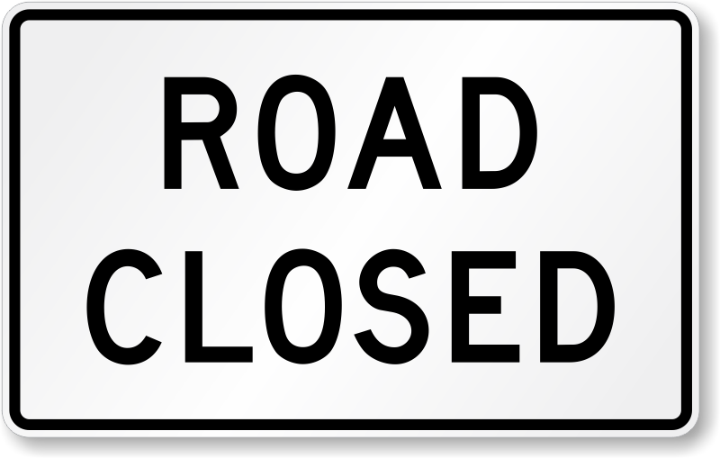road closed sign x r11 2